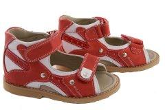d781397d32992f Ортопедичні сандалі для дівчинки з супінатором Ortop 002-1Red (шкіра),  колір червоний