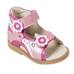 71e4aaf56cbeaa Ортопедичні сандалі для дівчинки з супінатором Ortop 002-1Pink(шкіра),  колір рожевий