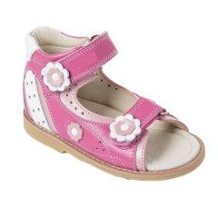 f36bfb426 Ортопедические сандалии для девочки с супинатором 007Pink (кожа), размер 20